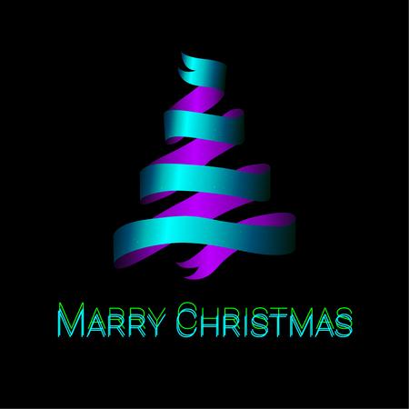 christmas tree illustration: Modern abstract christmas tree background, vector illustration.