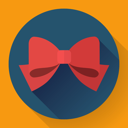 red bow: red bow icon Flat designed style.