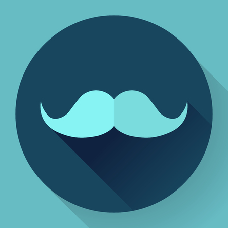 hair mask: Facial hair mustache flat icon for apps and websites.