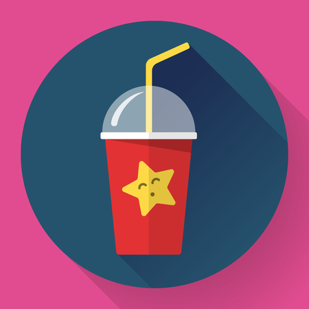 Bubble Tea or Milk Cocktail icon . Glass of drink with tubule. Retro illustration of bubble tea or milkshake on background.