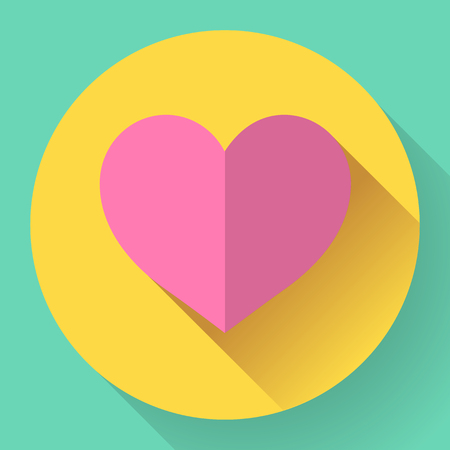 heart health: Flat heart icon. Abstract World health day concept with heart and heart beats.
