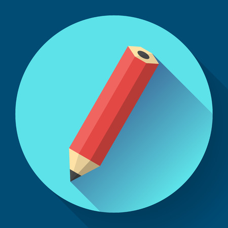 office pencil icon. Business Flat design style. Illustration