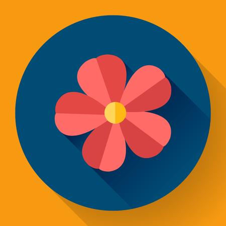 frangipani flower: Red cute Frangipani flower icon. Nature symbol Illustration