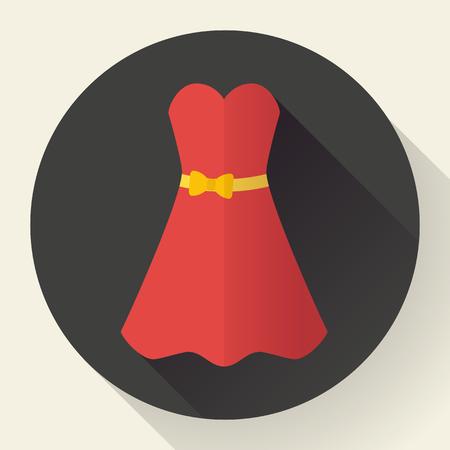 red dress: Red dress - classic fashion. Template for a clothing store, women boutique brand women dresses.