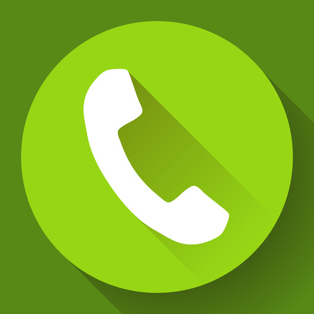 incoming: Incoming Phone Call end vector Icon. Flat design style.