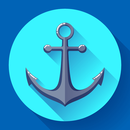 hinge: Anchor text icon, vector illustration. Flat design style