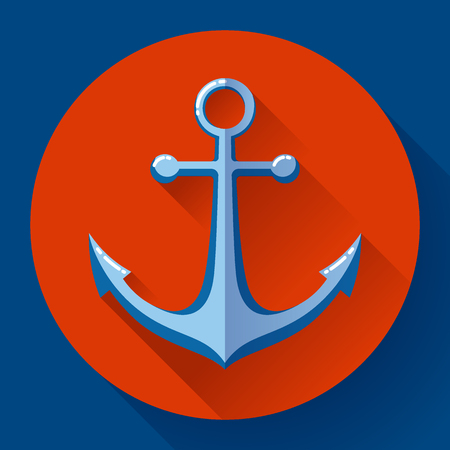 cling: Anchor text icon, vector illustration. Flat design style