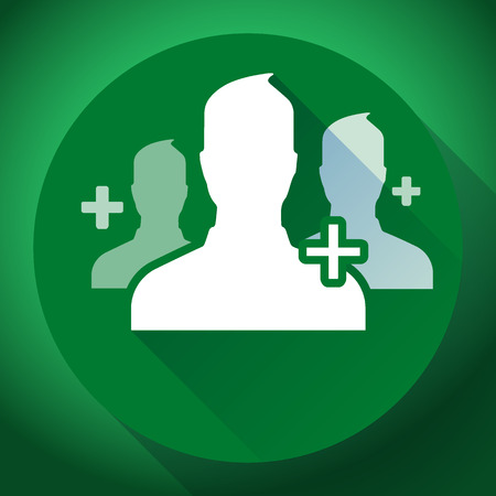 mutual aid: Teamwork and association of green people icon. Flat design style