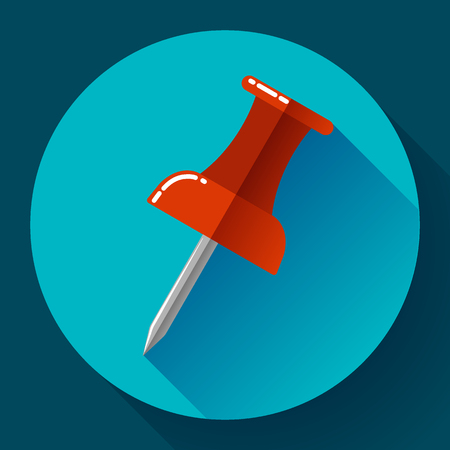 push pin icon: Flat Push pin icon for web and application