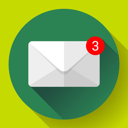 mail icon: Envelope Mail Icon new letter sms message notification Flat 2.0 design style