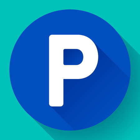 a lot: parking lot sign icon flat style vector illustration