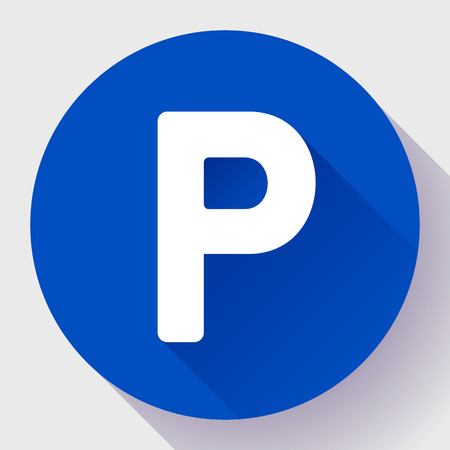regulate: parking lot sign icon flat style vector illustration