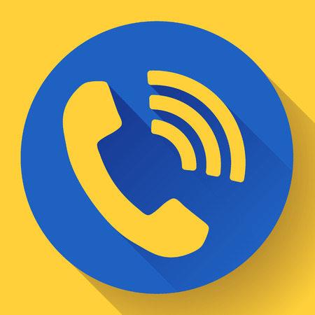messenger: incoming Phone Call vector icon messenger symbol