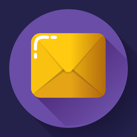 shipped: Small parcel package, letter or mail flat icon. Illustration