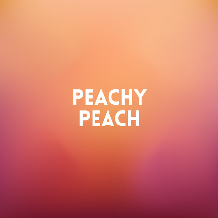 peachy: square blurred background - peach colors With quote - peachy peach