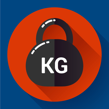 gram: Weight Icon in trendy flat style. Sport fitness app icon Illustration