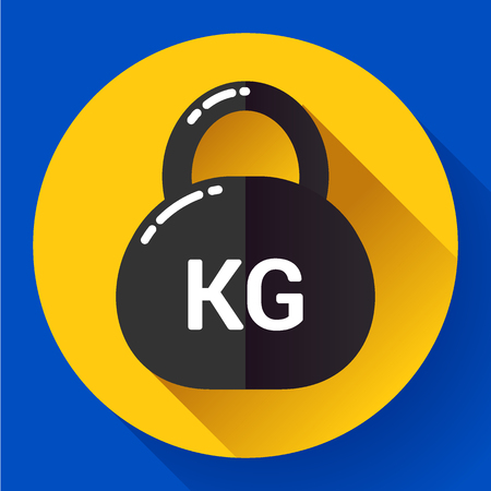 Weight Icon in trendy flat style. Sport fitness app icon Illustration