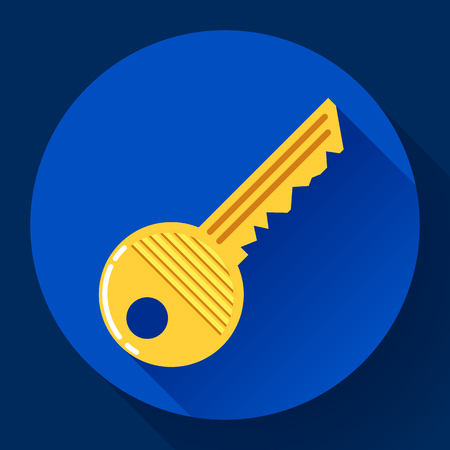 Site profile, House or car kay icon - entrance symbol, password icon, and security code Illustration