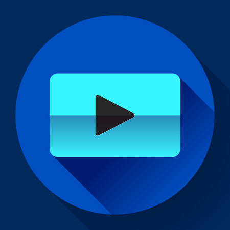 botton: flat video play player icon botton bar Illustration