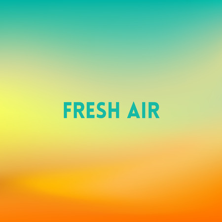 fresh air: square blurred background - sunset colors With quote - fresh air