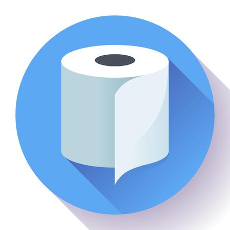 Weiß einfaches flaches Toilettenpapier Symbol Vektor