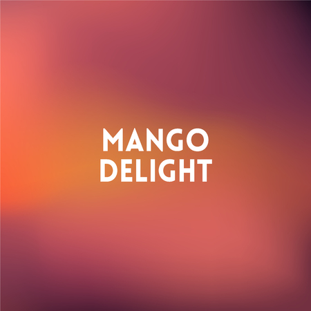 delight: square blurred background - peach colors With quote - mango delight Illustration