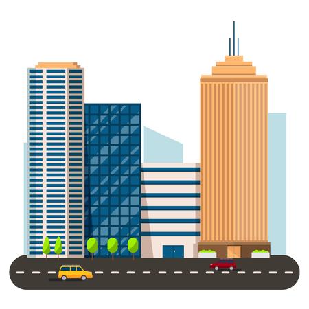 multiple house: business smart city life concept. Capital auto transportation