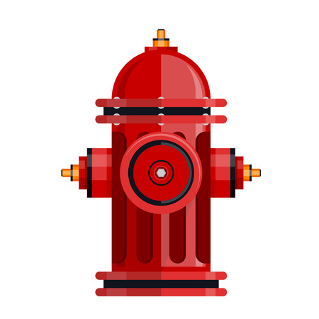 Red fire hydrant icon isolated on white vector. Illustration