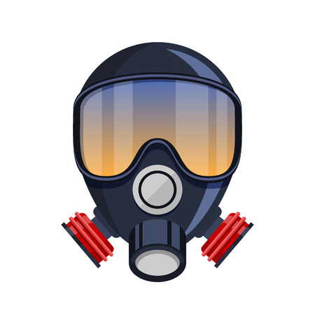 Gas mask stencil isolated on white vector
