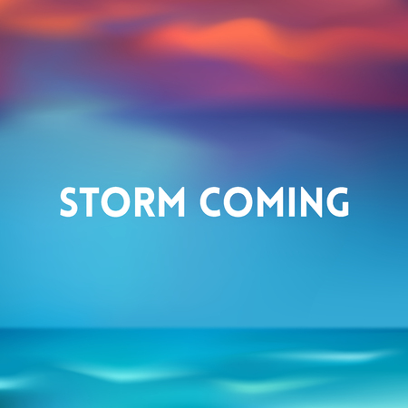 gale: square blurred background - sunset sea ocean colors With text
