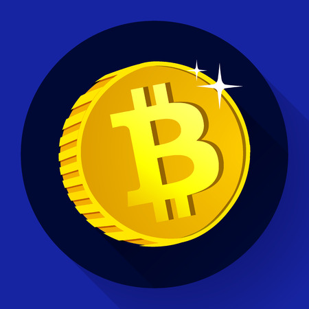 bitcoin network: Bitcoin. Gold coin with Bitcoin symbol. Cryptography currency