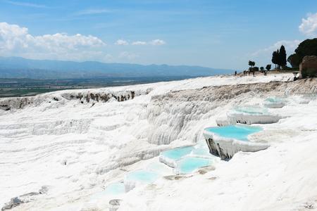 Mineral travertine Pamukkale Stock Photo