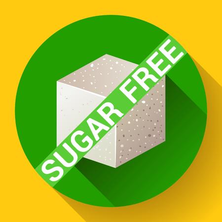 Sugar free icon flat Illustration