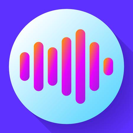sound waves vector icon sound Icon Vector. sound icon. Illustration