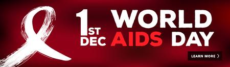 World aids day banner. Illustration