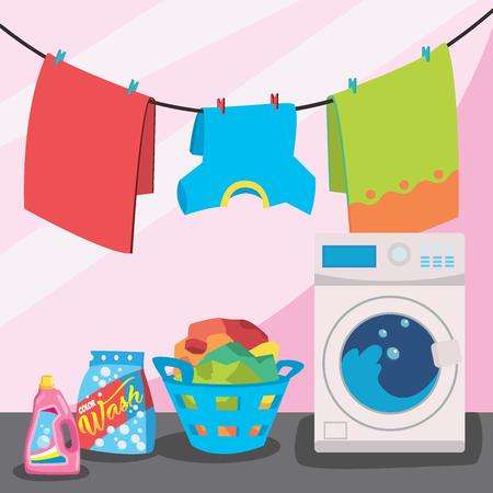 Laundry room service illustration.