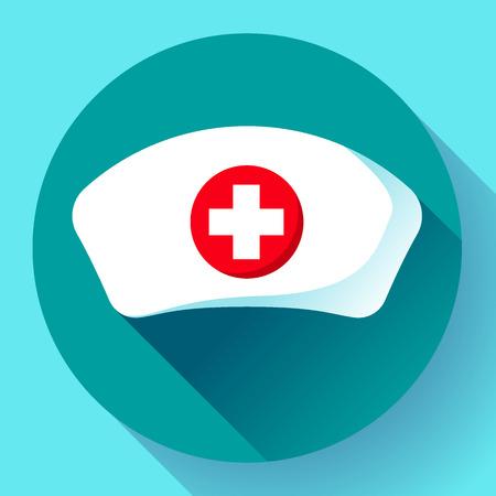 Krankenschwester Hut Symbol Vektor flache Krankenschwester Symbol