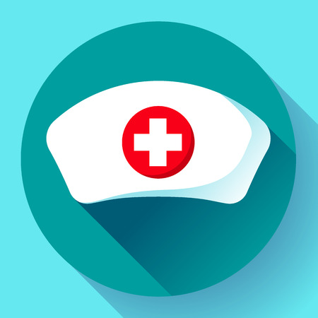Nurse hat icon vector flat nurse icon
