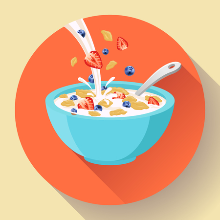 Cereal bowl icon 일러스트