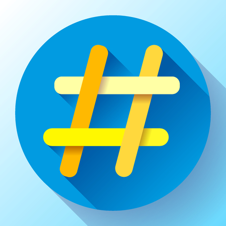 Hashtags Icon template vector illustration Illustration