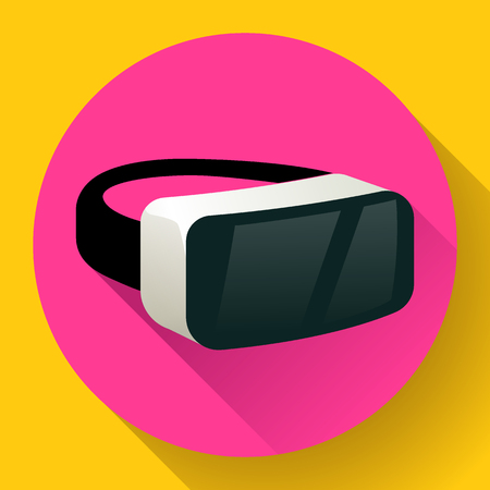 VR Glasses icon or virtual reality helmet icon vector. flat virtual reality headset icon for computer, phone or smart phone. vr goggles Illustration