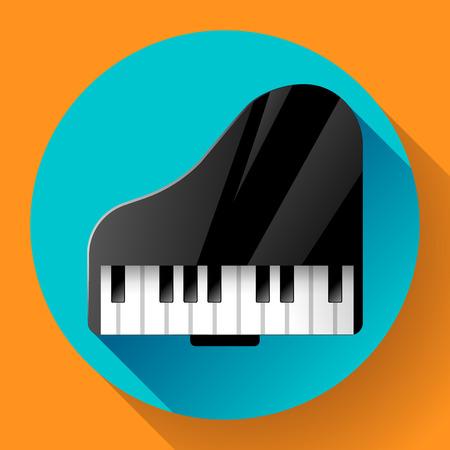 Piano icon - a symbol of classical music. Chamber music concert. Ilustração