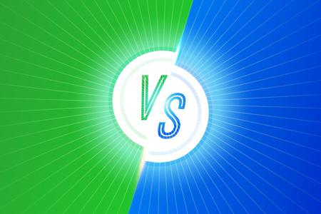 VS letters versus banner competitive concept vector Illustration