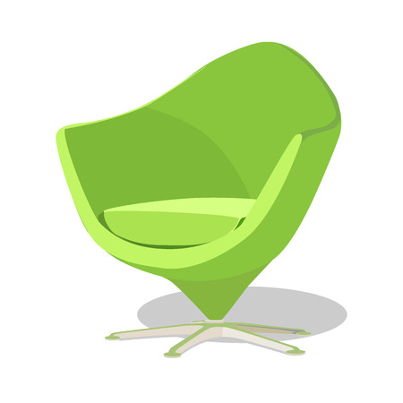Modern colorful soft armchair with upholstery. Armchairs for room design games. Cushioned furniture, room decoration, interior design isolated on white. Vector illustration flat style. Illustration