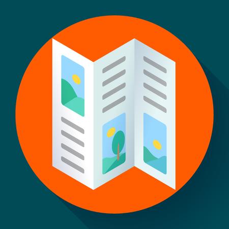 Three-fold brochures vector illustration in flat style