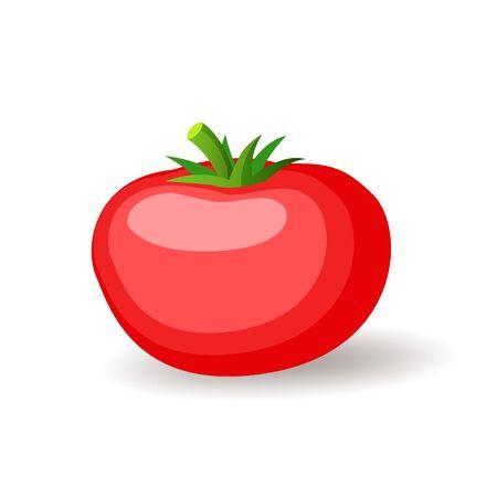Big red tomatoe icon isolated, fresh vegetables, organic healthy food, vector illustration Ilustrace