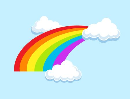 LGBT rainbow in clouds symbol icon. Gay pride, vector illustration