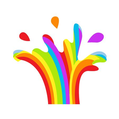 LGBT splashing fountain rainbow symbol icon. Gay pride, vector illustration