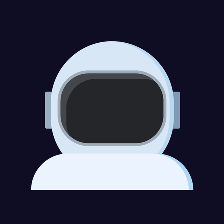 abstract astronaut helmet, vector isolated flat Icon