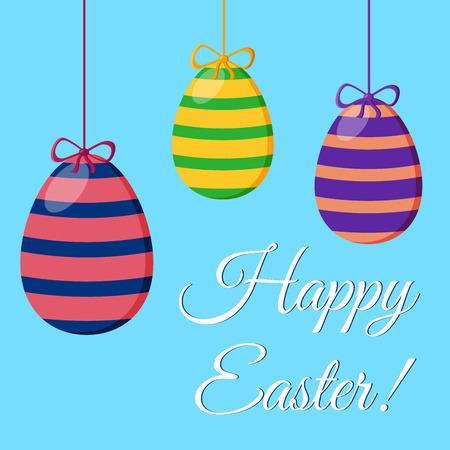 Happy Easter Typographical background. Easter poster. Easter logo. Vector illustration